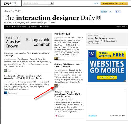 Interaction designer Daily on Twitter